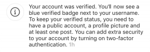 Instagram Verification
